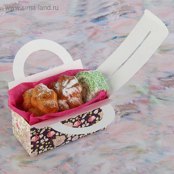 "Коробка для сладостей ""Белые хризантемы"", 12 х 5.5 х 5.5 см"