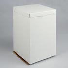 Кондитерская упаковка, короб белый, без окна, 30 х 30 х 45 см