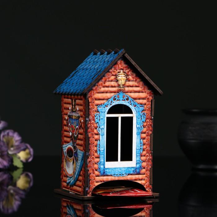 """Чайный домик """"Самовар"""", 9,8×9,8×17,4 см"""