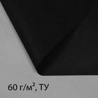 """Материал укрывной, 10 х 3.2 м, плотность 60, УФ, чёрный, """"Эконом"""""""