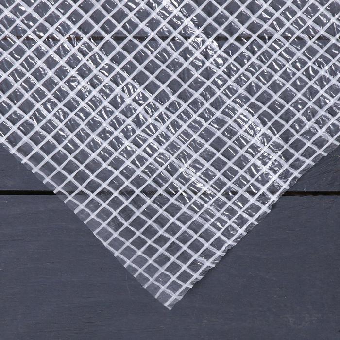 Плёнка полиэтиленовая, армированная, 25 × 2 м, толщина 150 мкм, белая