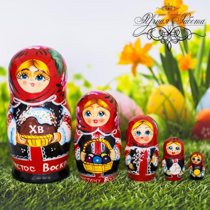 Матрёшка 5-ти кукольная «С Красной Пасхой!», 15 см
