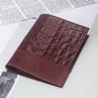 Обложка д/паспорта 11-05-38 Textura, 9,5*0,3*13,7см, бордо кайман/бордо пулап