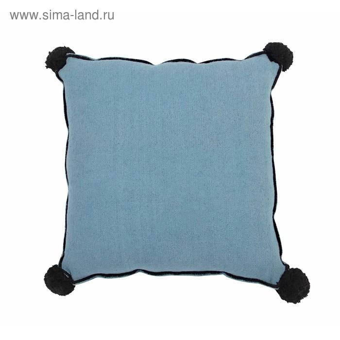 Подушка квадратная, размер 40х40 см, цвет бирюзовый