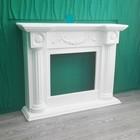 """Портал для камина """"Аристократ"""", гипс, цвет белый, (в комплекте 8 дет.) 110 х 134 х 34 см"""