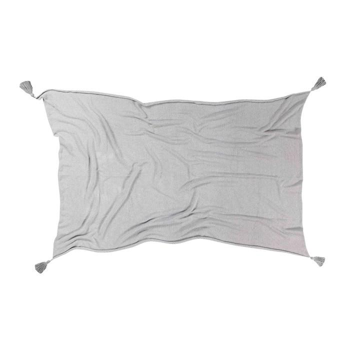 Плед градиент, размер 120х180 см, цвет серый