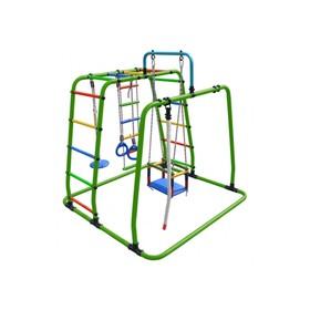 ДСК «Игрунок Т плюс», 1445 × 1440 × 1500 мм, цвет салатовый/радуга