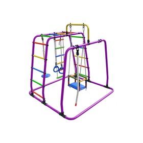 ДСК «Игрунок Т плюс», 1445 × 1440 × 1500 мм, цвет фиолетовый/радуга