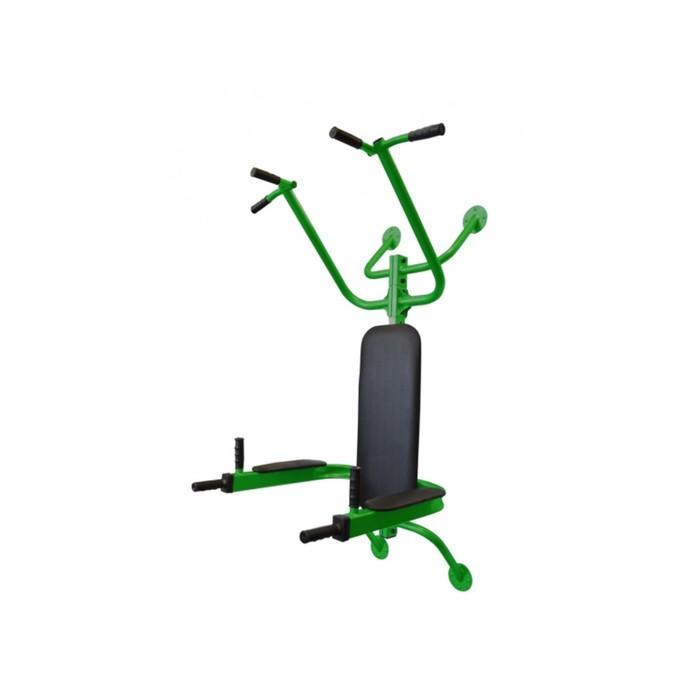 Турник-брусья «Атлет», цвет зелёный/чёрный