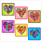 "Прихватка ""Цветочное сердце"", размер 17х17 см, цвет микс Z22-35"