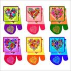 """Набор прихваток """"Цветочное сердце"""", размер 17х17 см, 17х27 см, цвет микс Z22-36"""