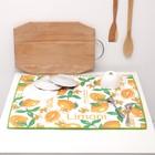 Полотенце из микрофибры для сушки посуды 38х51см, цвет МИКС