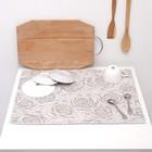 Полотенце из микрофибры для сушки посуды Жаккард 38х51см, светло-серый, 250г/м2