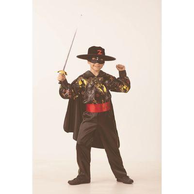 Карнавальный костюм «Зорро сказочный», сатин, размер 28, рост 110 см