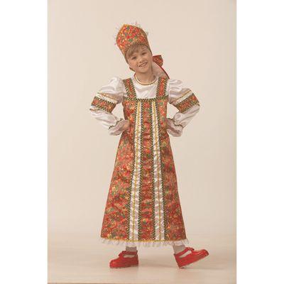 Карнавальный костюм «Алёнушка», сатин, размер 36, рост 140 см