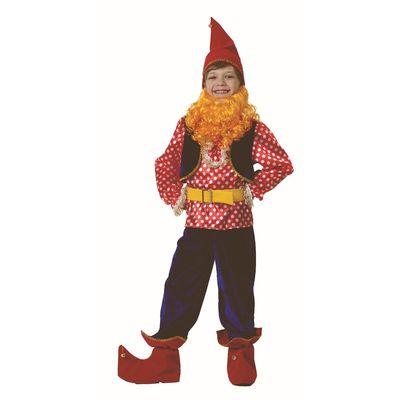 Карнавальный костюм «Гном Весельчак», бархат, размер 38, рост 152 см