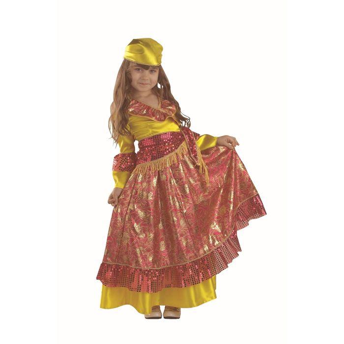 Карнавальный костюм «Цыганка», текстиль, размер 38, рост 146 см