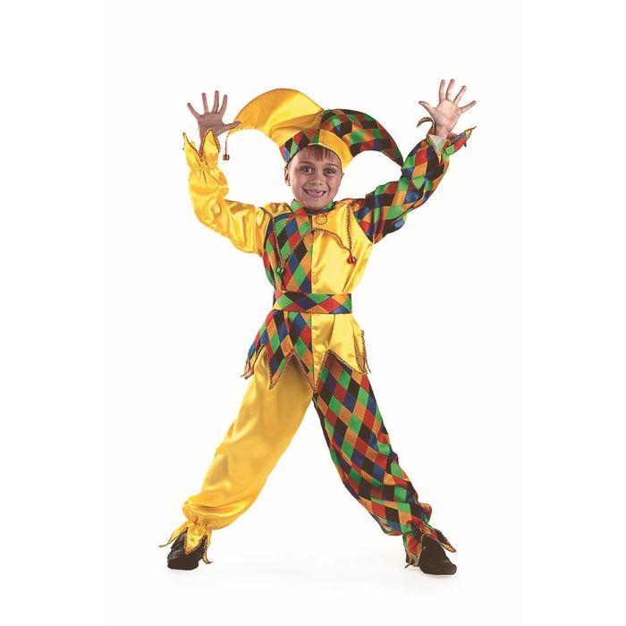 Карнавальный костюм «Шут-Карамболь», текстиль, размер 30, рост 116 см