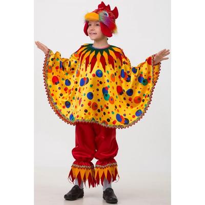 Карнавальный костюм «Петушок Чико», текстиль, размер 36