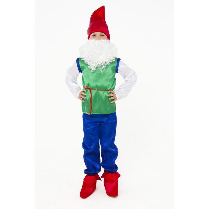 Карнавальный костюм «Гном», текстиль, размер 26, рост 104 см