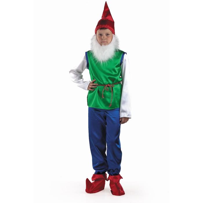 Карнавальный костюм «Гном», текстиль, р. 34, рост 134 см