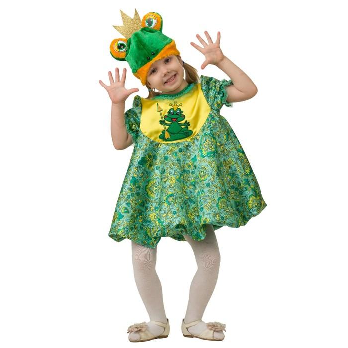 """Карнавальный костюм """"Царевна Лягушка"""", платье, жилет, плащ, парик, р. 30 , рост 116 см"""