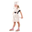"""Карнавальный костюм """"Кошка"""" цвет белый, мех, рост 110 см, размер 28"""
