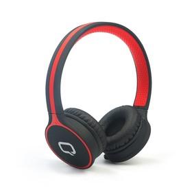 Наушники Qumo Accord 3, беспроводные, полноразм., микрофон, BT 4.1, 300 мАч, черно-красные
