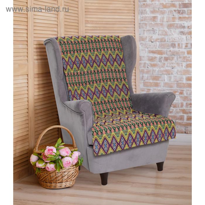 """Накидка на кресло """"Этель"""" Коллаж 70х160 ± 2 см"""
