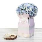 Складная коробка–ваза «Розовая», 12 х 12 х 23 см