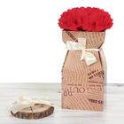 Складная коробка–ваза «Газеты», 12 х 12 х 23 см