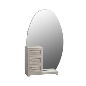 Шкаф комбинированный Белла зеркало 1050х420х1758 Белый/джелато софт