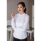 Блуза женская 054, цвет белый, р-р 52, рост 164