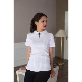 Блуза женская 057, цвет белый, р-р 52, рост 164