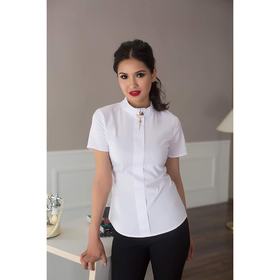 Блуза женская 060, цвет белый, р-р 42, рост 164