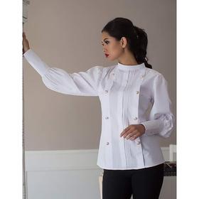 Блуза женская 062, цвет белый, р-р 42, рост 164