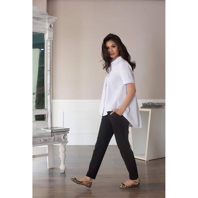 Блуза женская 080, цвет белый, р-р 52, рост 164