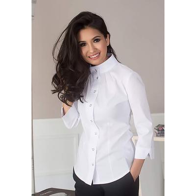 Блуза женская 090, цвет белый, р-р 46, рост 164