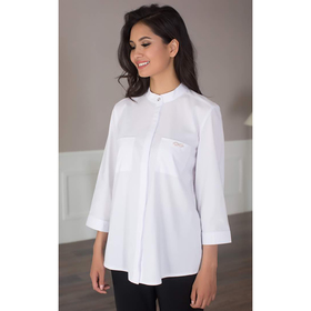 Блуза женская 091, цвет белый, р-р 44, рост 164