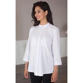 Блуза женская 091, цвет белый, р-р 50, рост 164