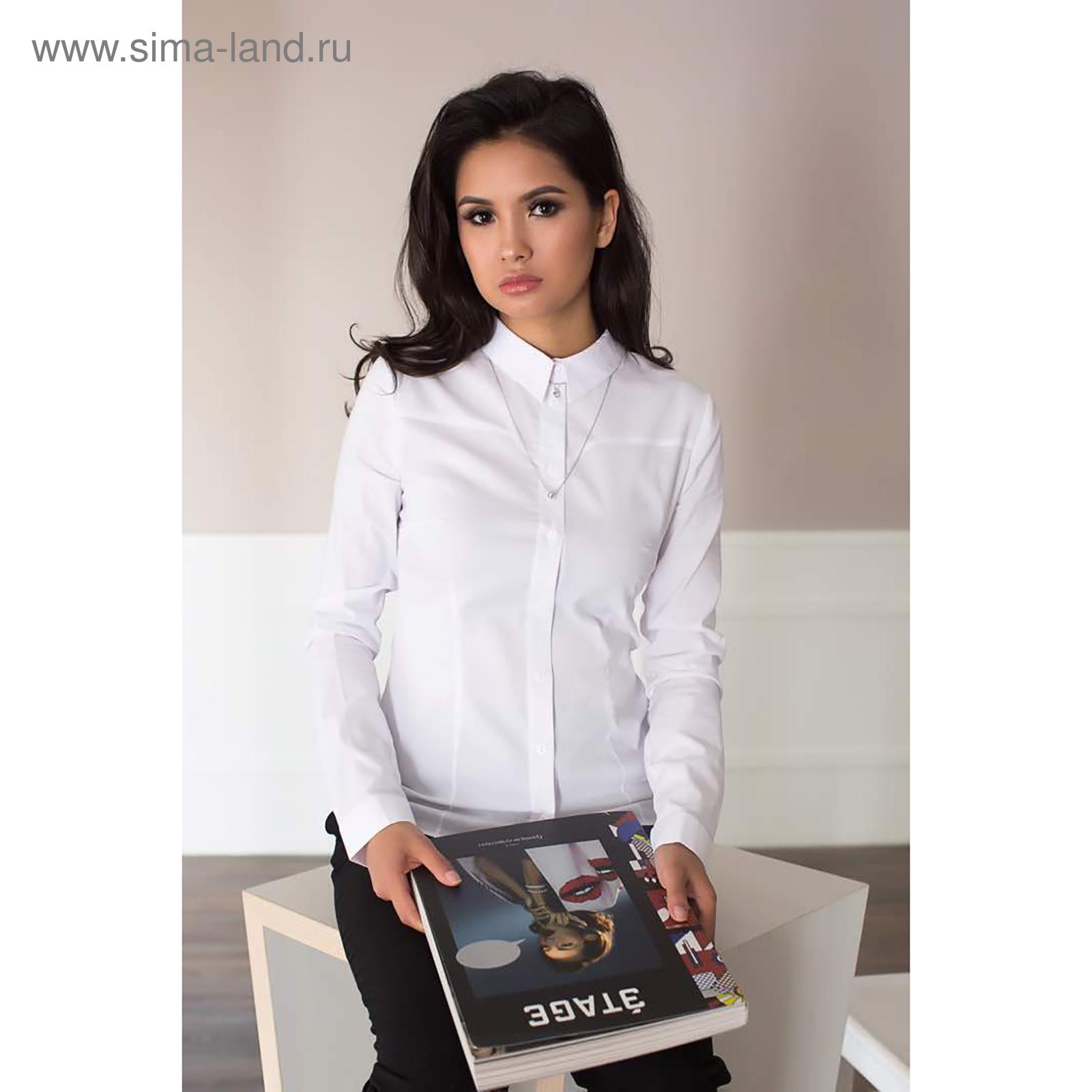 92552fa67b172f1 Рубашка женская, цвет белый, размер 54 (3045020) - Купить по цене от ...