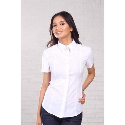 Блуза женская 095, цвет белый, р-р 50, рост 164