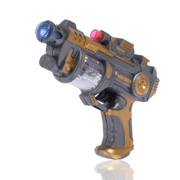 Пистолет «Дезинтегратор», световые и звуковые эффекты, работает от батареек, цвета МИКС