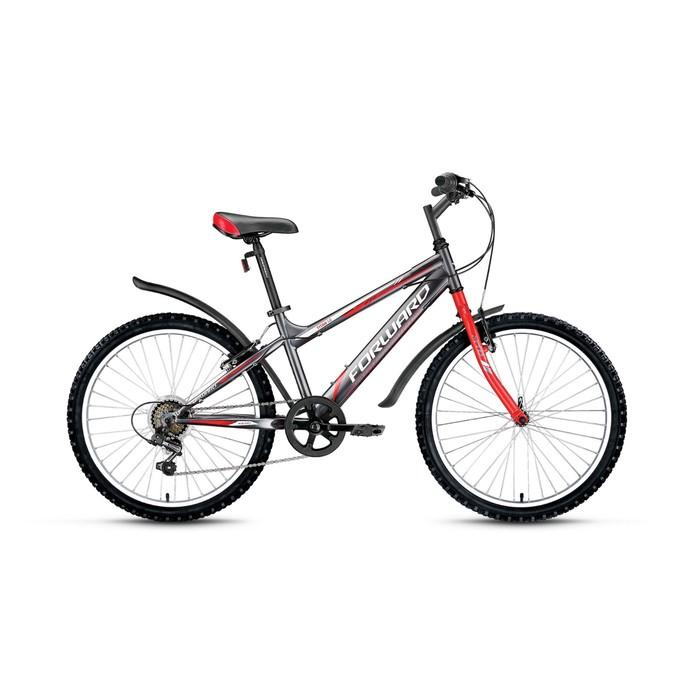 """Велосипед 24"""" Forward Titan 1.0, 2017, цвет серый, размер 14"""""""
