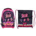 РюкзакTarget 44*32*17 для девочки, с наполнением, «Сладкие цветы», синий/розовый