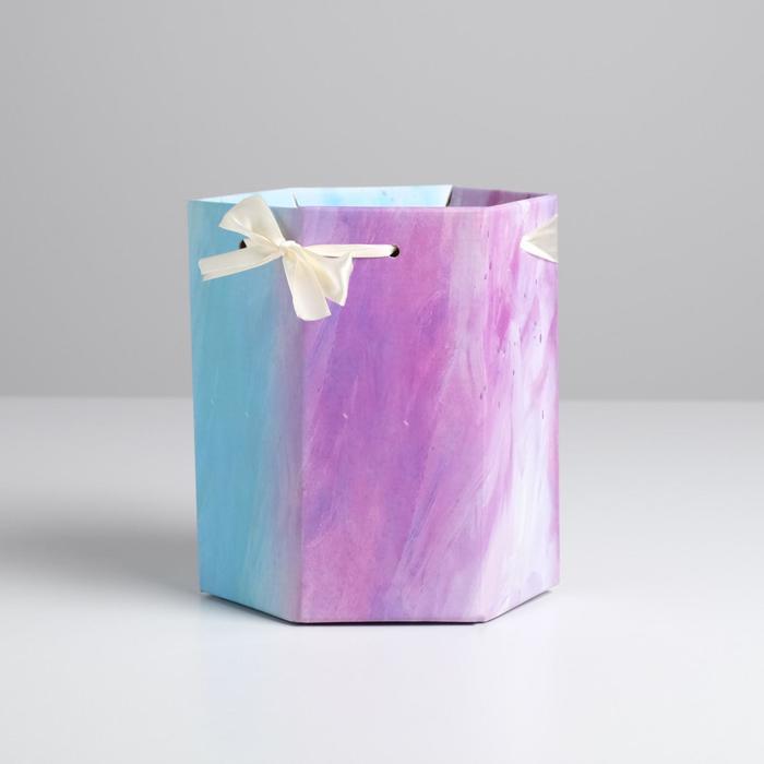 Коробка складная шестригранник «Волна», 17 х 14,8 х 19,5 см