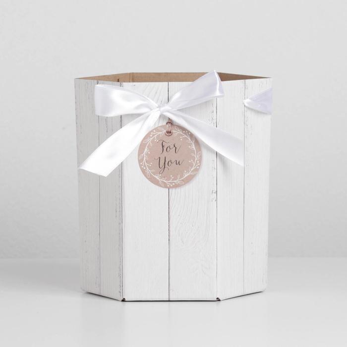 Коробка складная шестригранник For You, 17 х 14,8 х 19,5 см