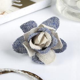 "Декор для творчества ""Винтажные розы"" синий оттенок (набор 4 шт) 8х4,5х4,5 см"
