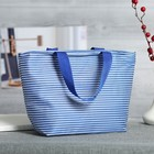 Cosmetic bag-purse, Department, zippered, handle, blue color