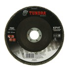 Круг лепестковый торцевой конический TUNDRA, 150 х 22 мм, Р80
